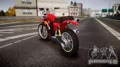 GTA V Dinka Enduro для GTA 4 вид сзади слева