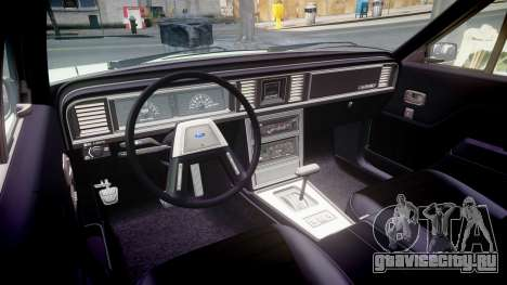 Ford LTD LX 1985 v1.6 для GTA 4 вид изнутри