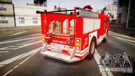 GTA V MTL Firetruck для GTA 4 вид сзади слева