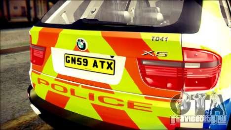 BMW X5 Kent Police RPU для GTA San Andreas вид сзади