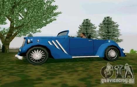 Hustler Cabriolet для GTA San Andreas вид слева
