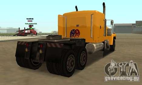 PS2 Tanker для GTA San Andreas вид сзади слева