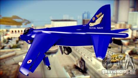 GR-9 Royal Navy Air Force для GTA San Andreas вид слева