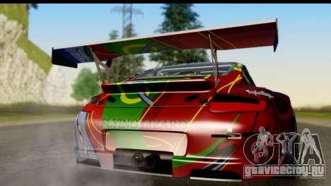 Porsche 911 GT3 RSR 2007 Flying Lizard для GTA San Andreas вид справа