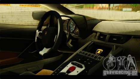 Lamborghini Aventador LP700-4 для GTA San Andreas вид справа