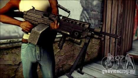 Gold M60 with Custom GTA 5 Icon для GTA San Andreas третий скриншот
