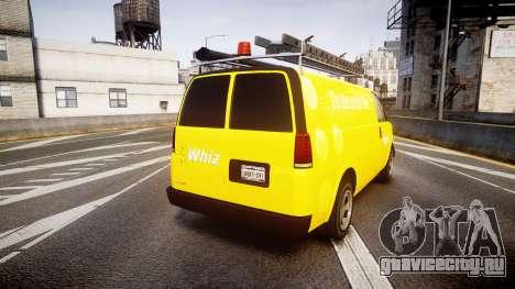 Vapid Speedo Whiz для GTA 4 вид сзади слева