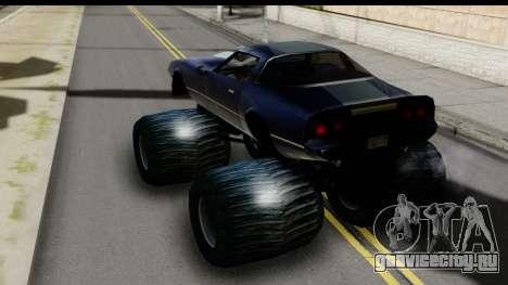 Monster Phoenix для GTA San Andreas вид сзади слева