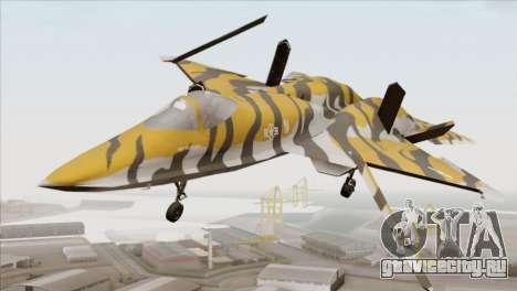 YF-23 Black Widow II Tigermeet для GTA San Andreas вид справа