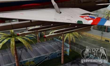 MIG-21MF Slovak Air Force SLP для GTA San Andreas вид справа