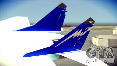 Mikoyan-Gurevich MIG-29K для GTA San Andreas вид сзади слева