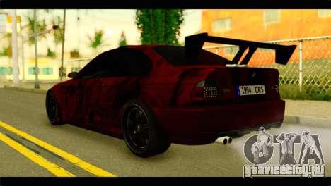 BMW 330 Tuning Red Dragon для GTA San Andreas вид слева