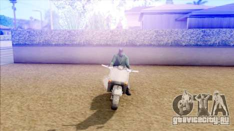 Piaggio Vespa для GTA San Andreas вид сзади слева