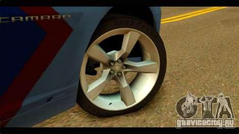 Chevrolet Camaro Indonesia Police для GTA San Andreas вид сзади слева