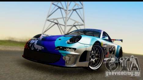Porsche 911 GT3 RSR 2007 Flying Lizard для GTA San Andreas вид сзади слева