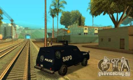 Beta FBI Truck для GTA San Andreas вид сзади слева