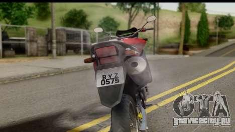 Honda XRE 300 v2.0 для GTA San Andreas вид сзади