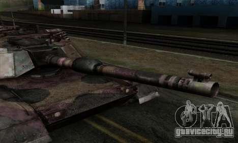 M1A2 Abrams Autumn Camo для GTA San Andreas вид сзади слева