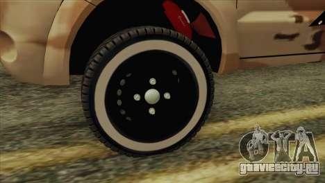 Toyota Hilux Siria Rebels для GTA San Andreas вид сзади слева