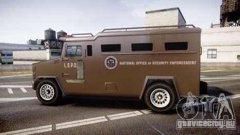 GTA V Brute Police Riot [ELS] skin 1 для GTA 4 вид слева