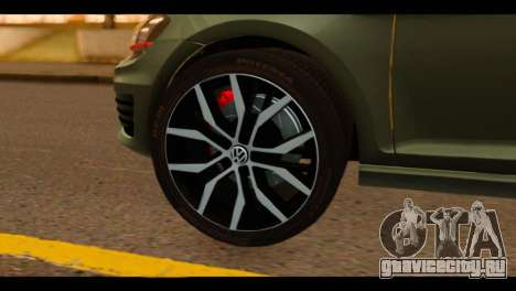 Volkswagen Golf Mk7 2014 для GTA San Andreas вид сзади слева