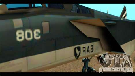 MIG-31 Pirat Squadron для GTA San Andreas вид сзади