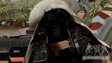 F-16C Top Gun для GTA San Andreas вид сзади
