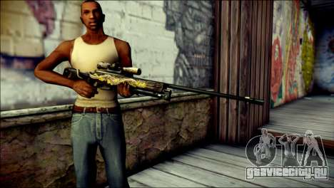 AWM Infernal Dragon CrossFire для GTA San Andreas третий скриншот