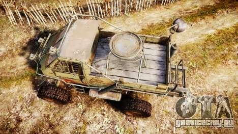 Военный бронированный грузовик для GTA 4 вид справа
