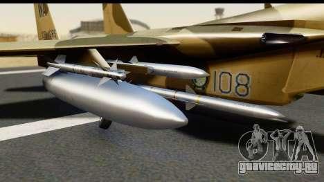 F-15C Eagle Desert Aggressor для GTA San Andreas вид справа
