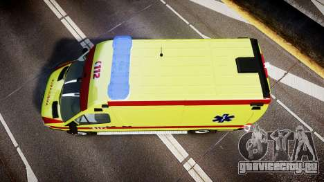 Mercedes-Benz Sprinter 311 cdi Belgian Ambulance для GTA 4 вид справа