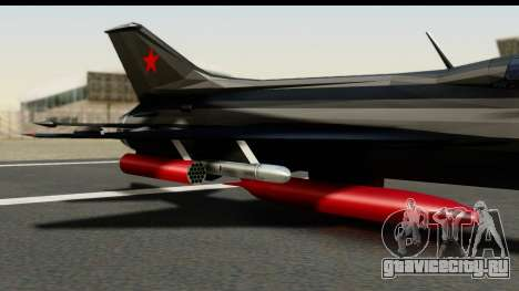 MIG-21F Fishbed B URSS Custom для GTA San Andreas вид справа