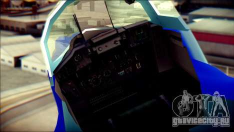 Mikoyan-Gurevich MIG-29K для GTA San Andreas вид сзади