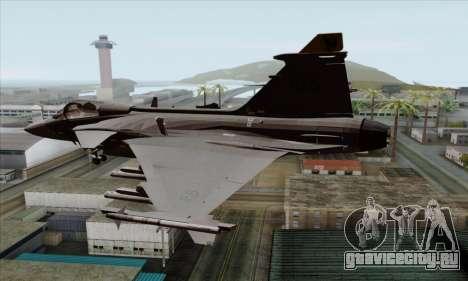 JAS-39 Gripen NG ACAH для GTA San Andreas вид слева
