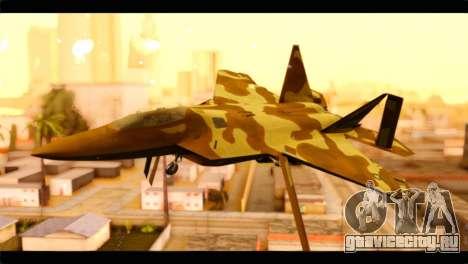 F-22 Raptor Desert Camouflage для GTA San Andreas