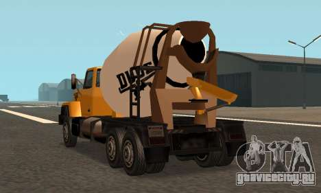 Cement Truck Fixed для GTA San Andreas