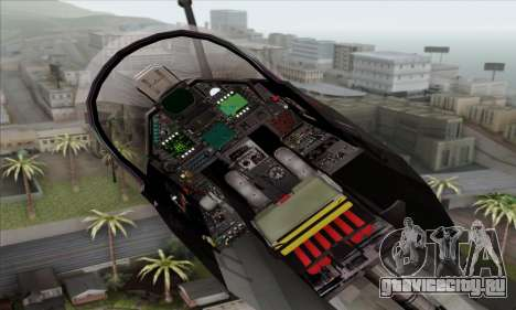 Dassault Mirage 2000-N SAM для GTA San Andreas вид сзади