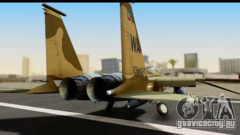 F-15C Eagle Desert Aggressor для GTA San Andreas вид сзади