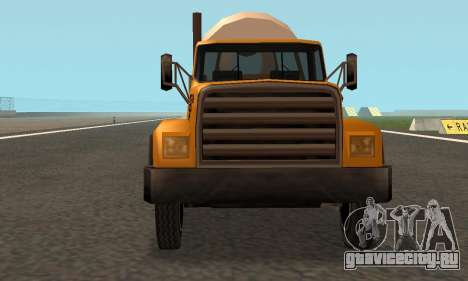 Cement Truck Fixed для GTA San Andreas вид изнутри