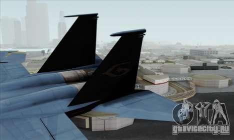 McDonnell Douglas F-15D Eagle GRDF для GTA San Andreas вид сзади слева