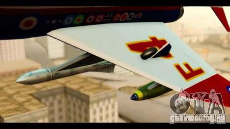 McDonnell Douglas F-4E Phantom II для GTA San Andreas вид справа