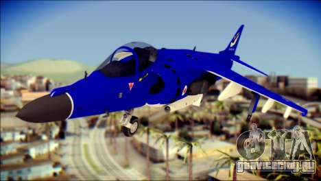 GR-9 Royal Navy Air Force для GTA San Andreas вид сзади