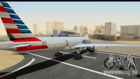 Boeing 777-200ER American Airlines для GTA San Andreas вид слева