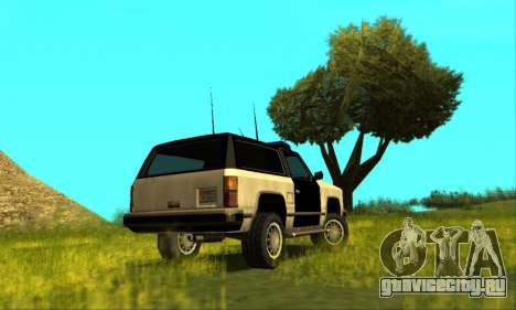 Beta Police Ranger для GTA San Andreas вид слева