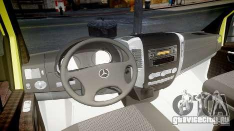 Mercedes-Benz Sprinter Ambulance [ELS] для GTA 4 вид сзади