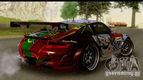 Porsche 911 GT3 RSR 2007 Flying Lizard для GTA San Andreas вид слева