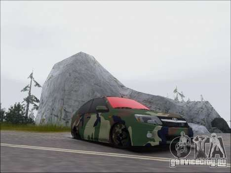 Lada Granta Liftback Coupe для GTA San Andreas вид сзади