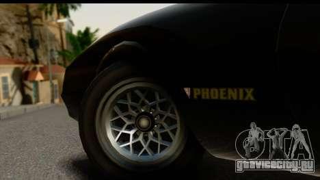 GTA 5 Imponte Phoenix IVF для GTA San Andreas вид изнутри