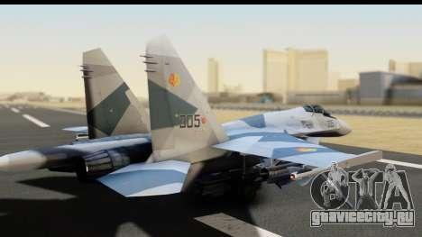 SU-35BM Yuktobanian Air Force для GTA San Andreas вид слева