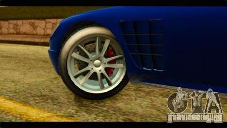 GTA 5 Ocelot F620 для GTA San Andreas вид сзади слева